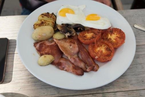 Vegetarisch ontbijt van Frank met bacon