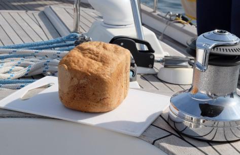 Onderweg naar Sanxenxo lekker broodje gebakken