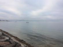 Boten voor anker voor strand