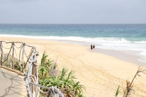 Enorme drukte op het strand