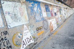 Muurschilderingen boten die in Porto Santo zijn geweest
