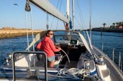 Marjolie vaart de boot Lagos uit