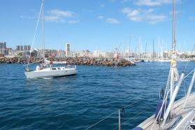 Aankomst in de haven van Las Palmas