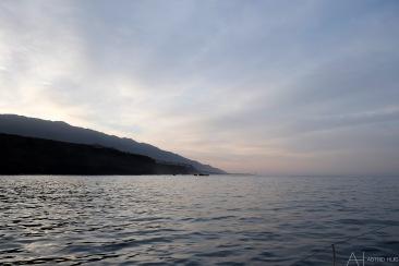 Prachtig uitzicht als we de haven uitvaren